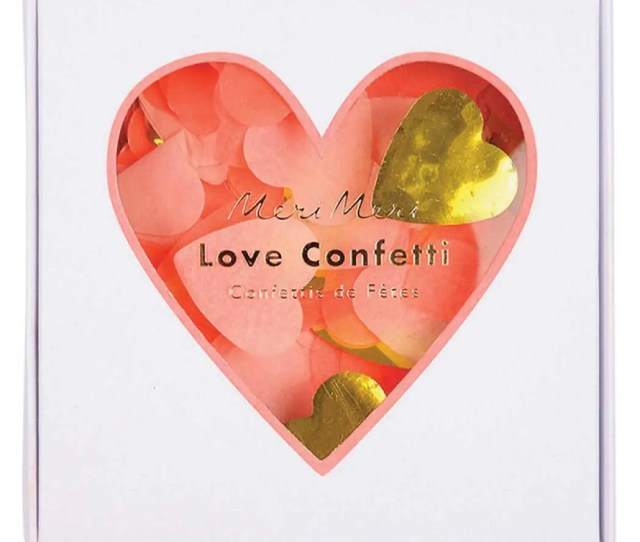 Love Confetti Valentine Heart Party Decor In Pink Gold Meri Meri