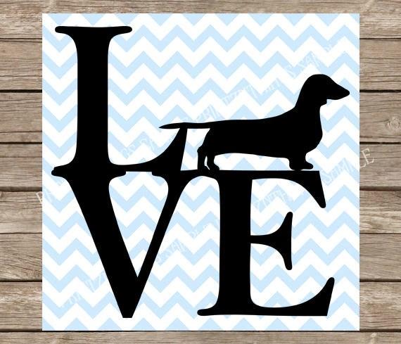 Download Love svg dachshund svg pet pet svg Dog svg dog | Etsy