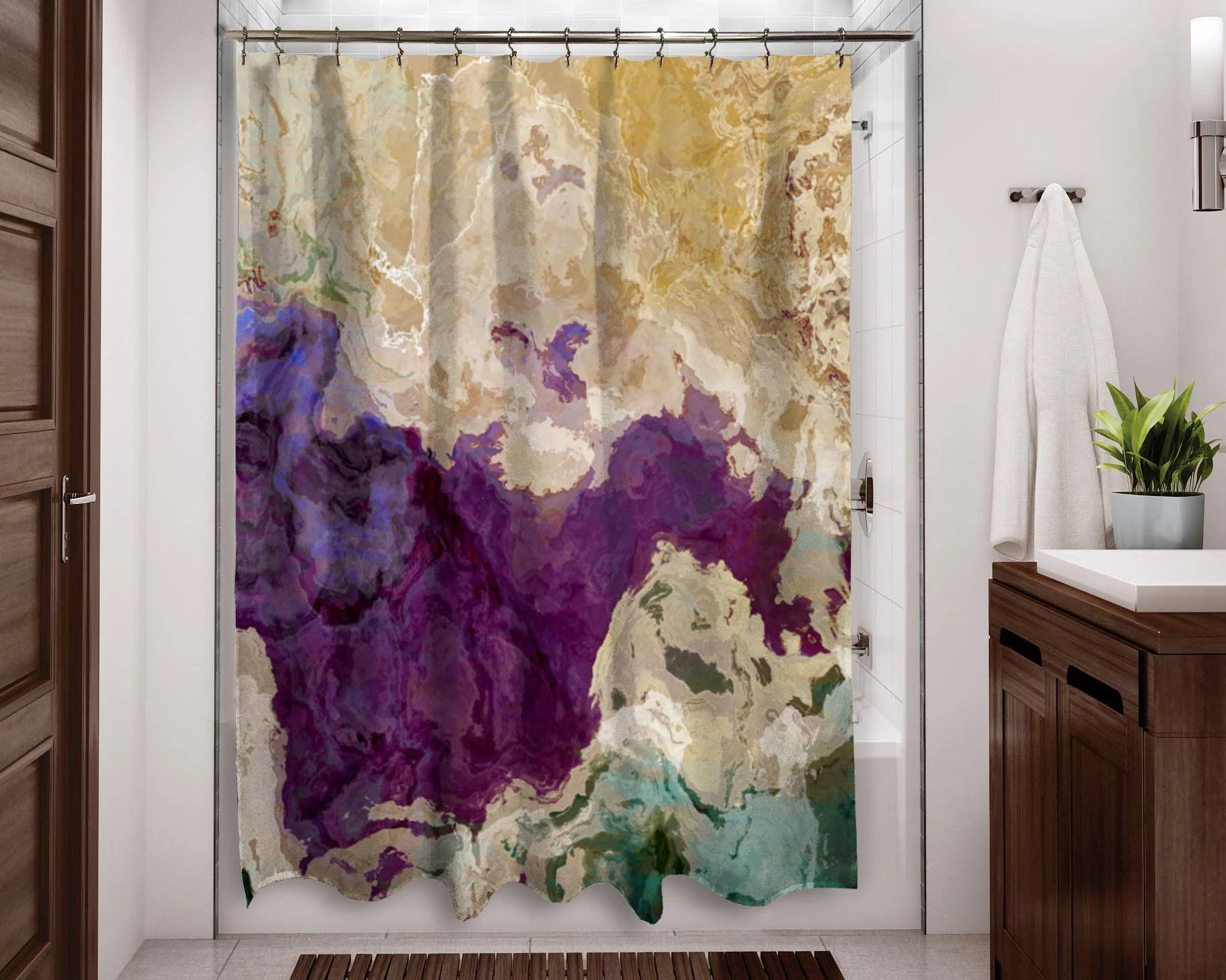 plum shower curtain etsy