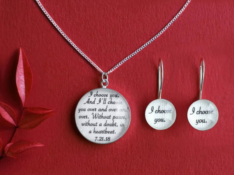 Cotton Anniversary Gifts for Her / Customized with your Earrings + Necklace