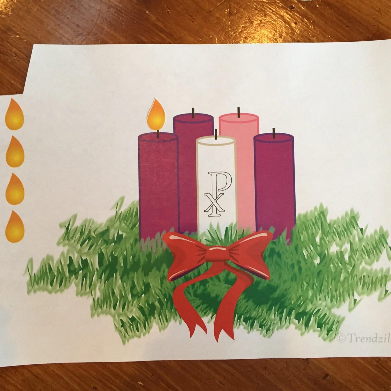 Advent Activity Pages Kids Advent Wreath Printable Christmas Decoration Printable Advent