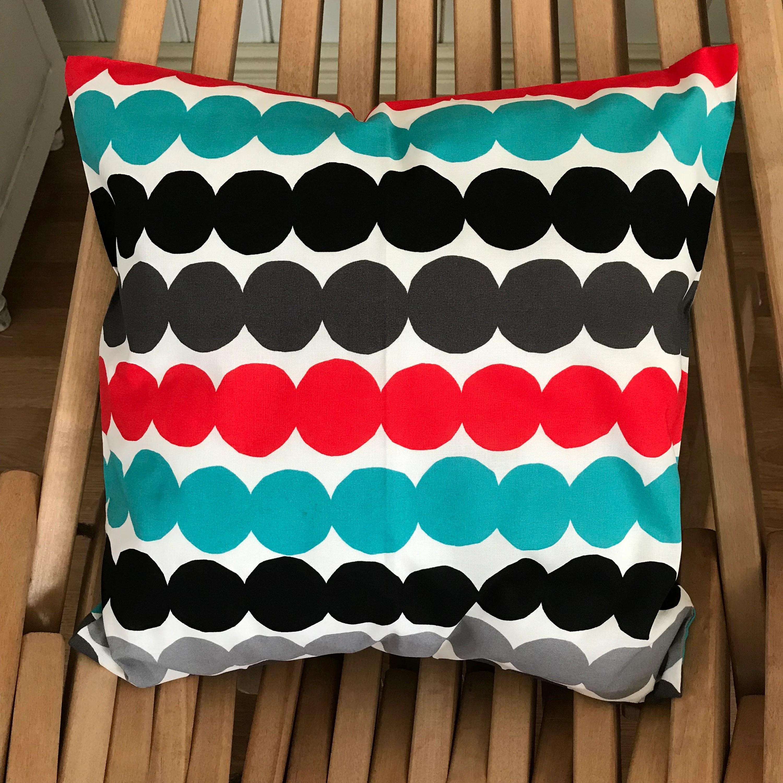fnland handmade red mini unikko pillow