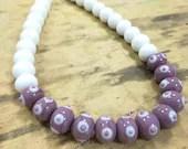 choker necklace in purple...