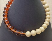 choker necklace in amber ...
