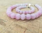 Pink alabaster necklace...