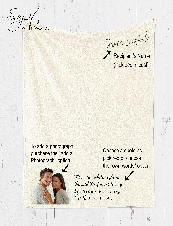 Personalized Custom throw blanket we hugged this blanket image 3