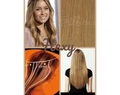"""12"""" long HALO flip in HEXY Medium/dark dirty blonde #18 human remy secret invisible miracle wire hair extensions damage free bespoke circle"""