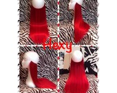 """16"""" long HALO HEXY FLIP in Bright red human remy secret invisible miracle wire hair extensions crown circle double volume quick fit loop"""