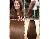 """HALO Hair Extensions 20"""" #6 Medium-Light Chestnut Brown Flip In Secret Miracle Wire Crown Human Hair Extensions or One Piece Clip In Weave"""