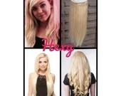 """HALO Hair Extensions 20"""" #60 Lightest (Bleach not Platinum) Blonde Flip In Secret Miracle Wire Human Remy Hair Extensions/Clip In Weave Hexy"""