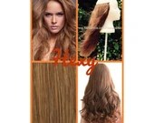 """12"""" long HALO FLIP in HEXY Light honey brown #10 human remy secret invisible miracle wire hair extensions bespoke no clips no damage circle"""