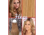 """14"""" long HALO HEXY FLIP in Medium honey blonde #16 human remy secret invisible miracle wire bespoke hair extensions magic micro loop circle"""