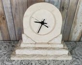 Vintage Stone Renoir Clock Quartz with Pamplet