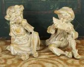 Vintage Anne-Jo Originals Figurines Little Boy and Girl Garden Statues