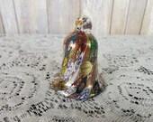 Vintage Campanella L Murano Millefiori Art Glass Bell With Label Italy