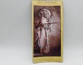 Antique American Scenery Indian Chief Remington Regalia Photo