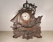 Antique Columbian Expo Christopher Columbus Cast Iron Clock
