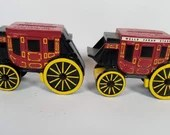 Pair of Stagecoach Diecast Wells Fargo Coin Banks with Key