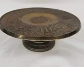 Cast Iron Bradley Hubbard Pedestal Tray Tazza Adam and Eve
