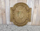 Gorgeous Brass Neoclassical Footed Tray Ornate Relief Design
