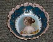Josef Riedl Royal Vienna Style Portrait Bowl Beehive Austria Circa 1890 - 1910