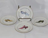 Set of 4 Email der Limoges 1855 Shoe Desert Plates