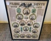 1848 Historical Ensigns and Thayer Presidential Broadside Poster The Presidents