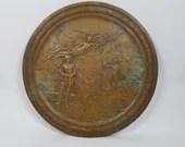 Rare WWI World War I Mourning Plaque By Pompeo Coppini Circa 1920