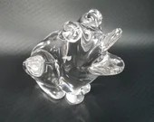Rare Cartier Frog Archimede Seguso Crystal Paper Weight Signed