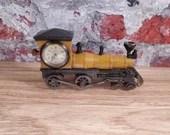 Amazing Omega Watch Wind Locomotive Train Miniature Novelty Clock