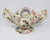 1890 Reichard M Krause Schweidnitz Prussia Germany Ornate Majolica Jardiniere Cachepot