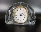 Vintage Staiger Arch Clock West Germany Quartz Movement Crystal Case From France