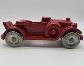Vintage Hubley Cast Iron Red Roadster Touring Car With Rumble Seat
