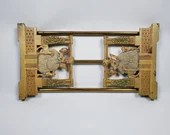 Antique Judd #9869 Cast Iron Victorian Lady & Dogs Expanding Book Rack Ends
