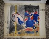 1942 Jay Irving Original Signed Colored Illustration Cartoon Comic Fireman
