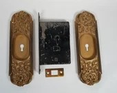 Beautiful Bronze RH Co Pocket Door BackPlates BL Barrows Lock Latch
