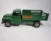 1950s Buddy L Green Store Door Delivery Truck 14in