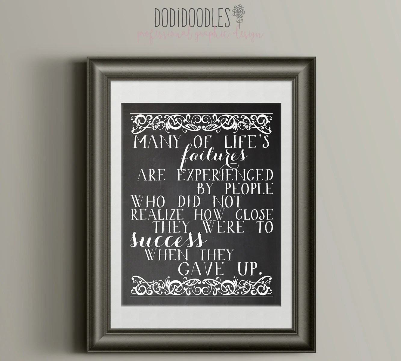 Thomas Edison Quote Printable Chalkboard Success Quote