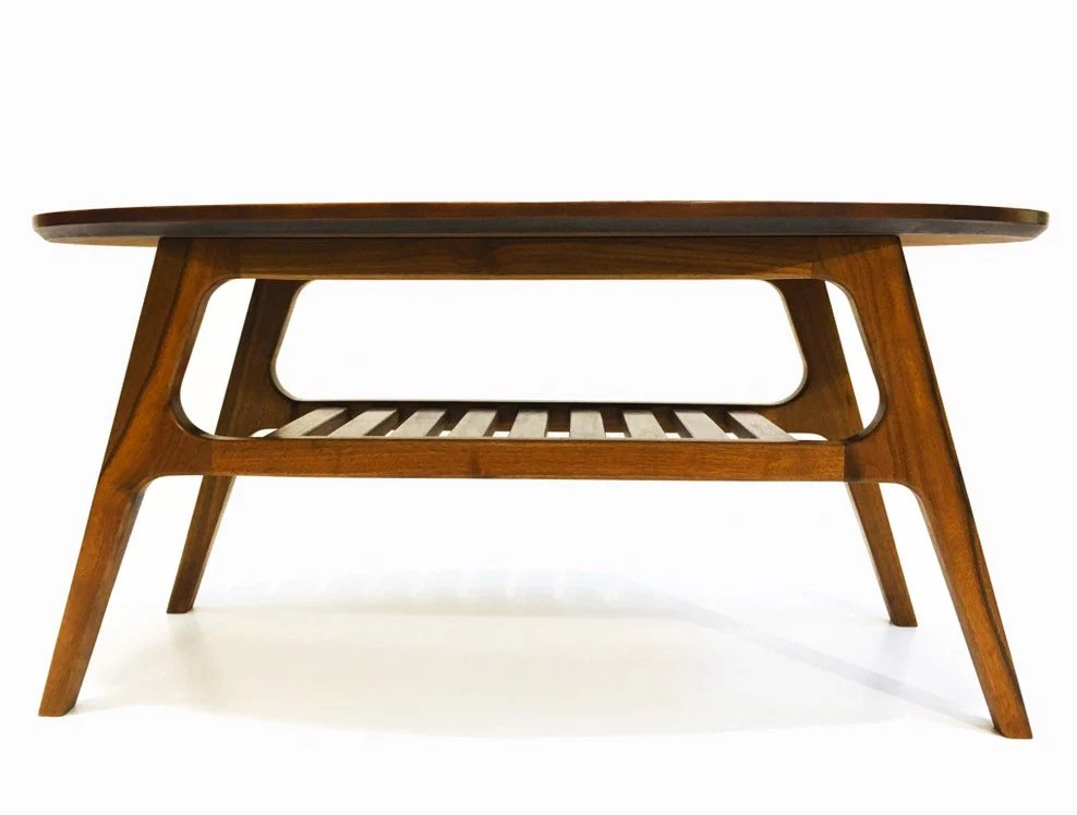 mid centery modern oval coffee table the edens