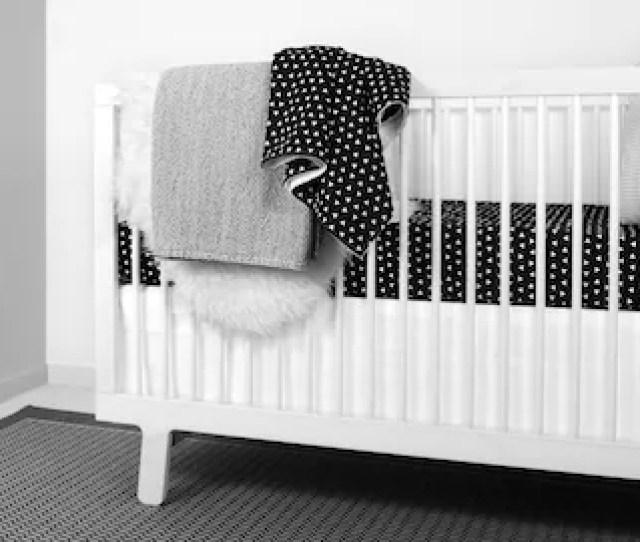 Black And White Crib Bedding Triangle Crib Bedding Set Monochrome Nursery Baby Bedding Black White Nursery Modern Baby Sheet