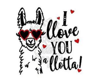 Download Llama love | Etsy