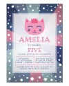 Kitty Birthday Invitation Editable Template Instant Download Etsy