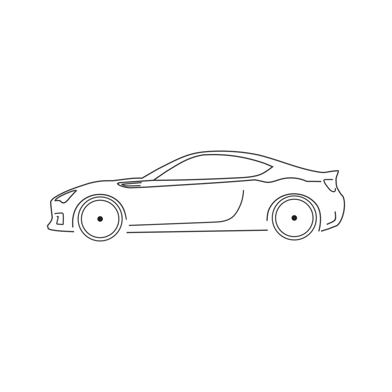 Silueta De La Etiqueta Engomada Subaru Brz