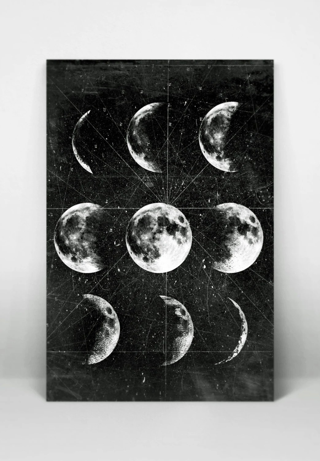 Moon Poster Diy 8x10 Size Instant Download Printable Moon