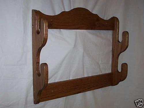 2 gun rack wall mount gun display rack red oak with walnut etsy