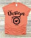 Gildan 500 Sunset Unisex Tshirt Mockupflat Lay Shirt Mock Etsy