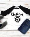Kids T Shirt Mockups Bella Canvas 3200t Black White T Shirt Etsy