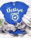 Bella Canvas 3001 Royal Unisex T Shirt Mock Up Mock Ups Flat Etsy