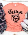 Bella Canvas 3001 Sunset Unisex T Shirt Mock Up Mock Ups Flat Etsy