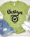 Bella Canvas 3001 Heather Green Mockup Tshirt Mockup With Etsy